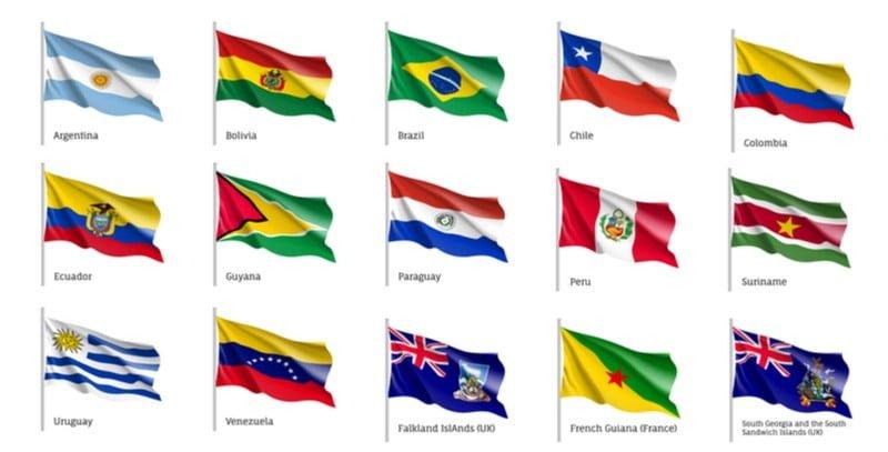 Landinformatie Brazilië-Vlaggen van landen Zuid Amerika