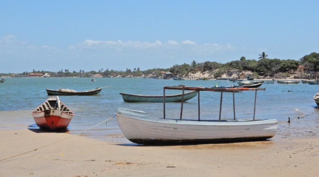 Mijnbrazilie-Brazilië-Parnaíba-Delta do Parnaíba-Vissersboten langs de delta van Parnaíba