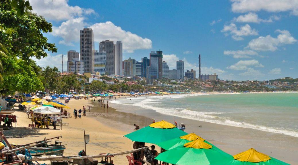 Mijnbrazilie-Brazilië-Natal-Natal is een prachtige stad aan de noordoostkust van Brazilië-Skyline Natal en strand van Natal