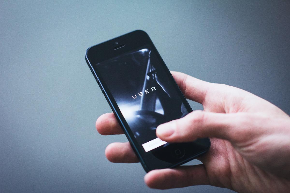 Uber op de telefoon