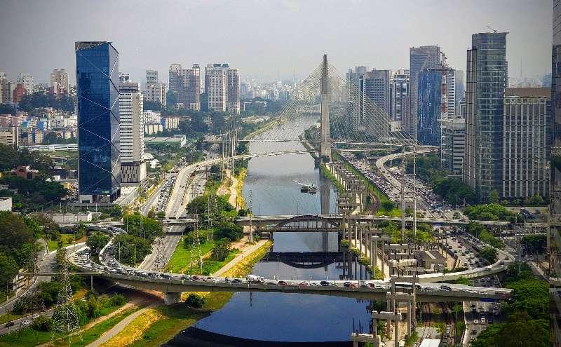 São Paulo-Rio Pinheiros-Ponte Estaiada Octavio Frias de Oliveira