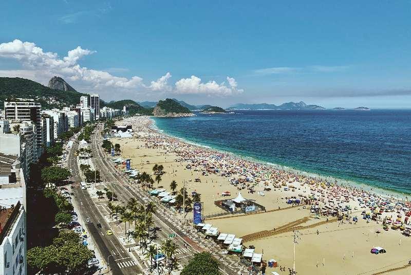 Rio de Janeiro-Copacabana-Strand van Copacabana