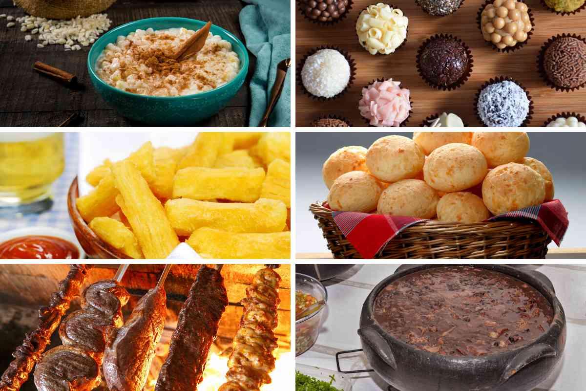 Verschillende Braziliaanse gerechten