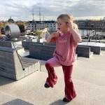 Fien op het dak bij NEMO