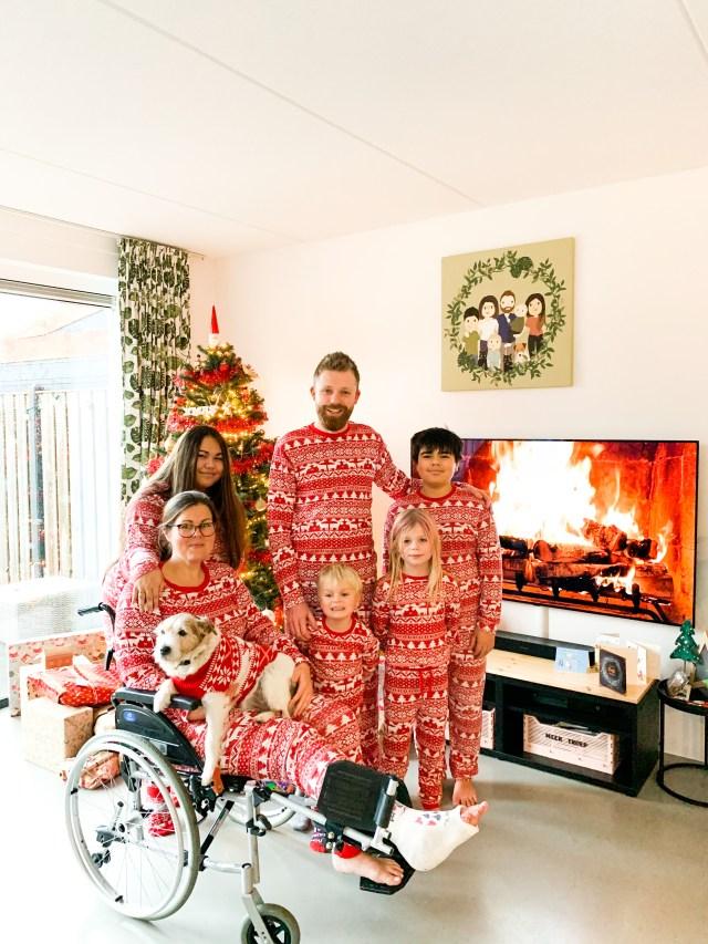 familiefoto matching pyjama's