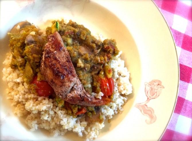 bulgur met vlees en groenten