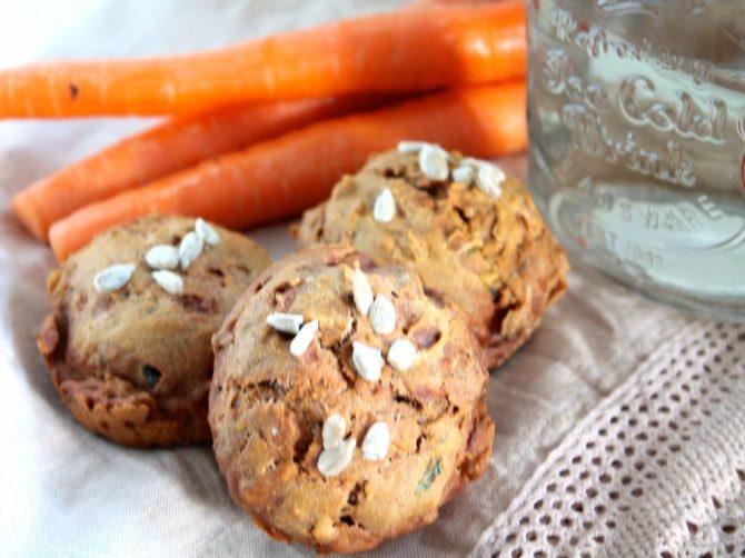 Lactosevrije, hartige muffins