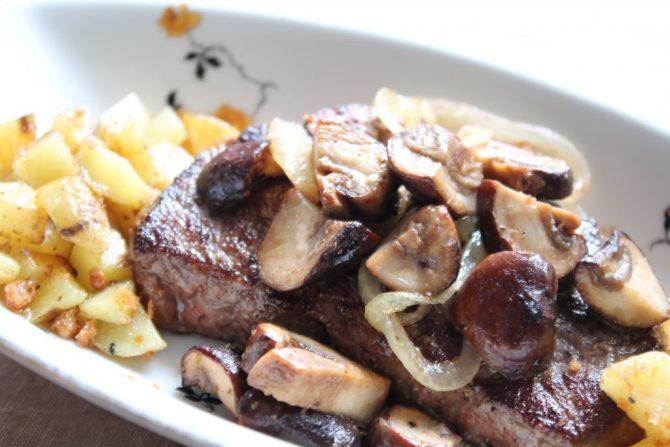 biefstuk met champignons