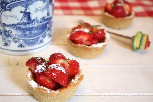 aardbeienvlaatjes