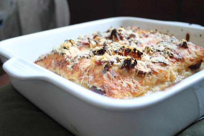 Lasagne met zuurkool