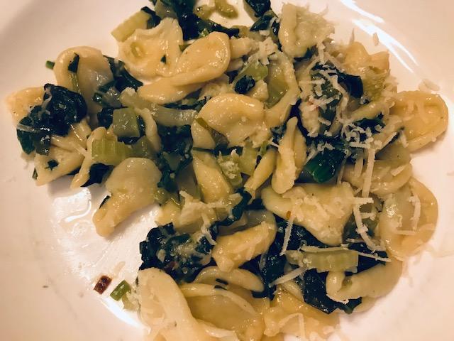 pasta met spinazie