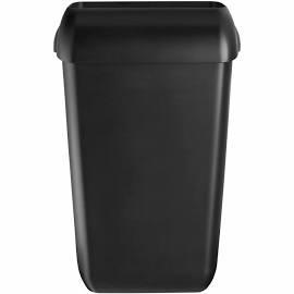 Zwarte afvalbak