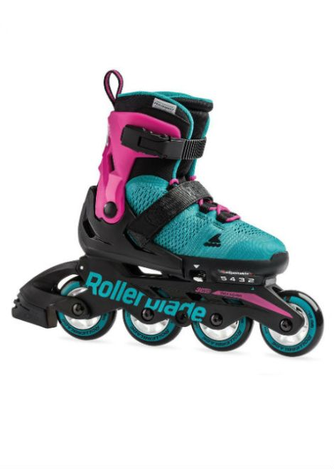 Rollerblade MICROBLADE G - Inline Skate - roze/emerald groen