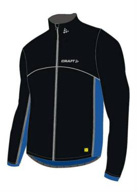 Craft Thermo Jacket Flatlock – Thermo Windstopperjack – Zwart/Blauw