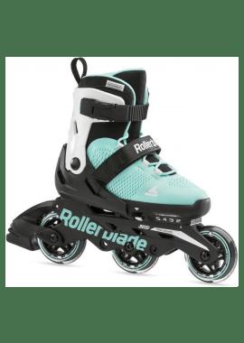 Rollerblade Microblade Free 3WD - verstelbare kids skate - aqua/wit