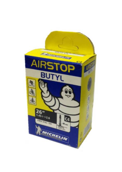Michelin-Airstop-Butyl-Binnenband-26''-1.45-2.6''-40MM-Presta-Ventiel