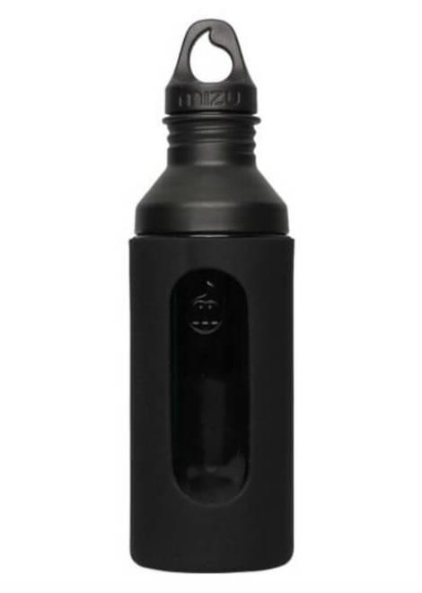 Mizu G7 Glazen Drinkfles - Zwart - Vooraf/Tijdens/Achteraf