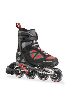 Rollerblade Spitfire LX Alu - Verstelbare Inline Skate - Zwart/Rood