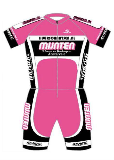 Team Mijnten skeelerpak roze