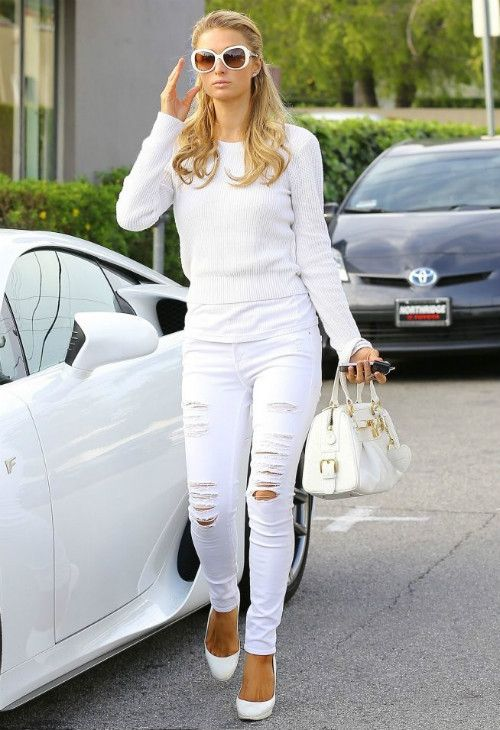 ripped skinny jeans - White Frame Denim 4b3RKyy