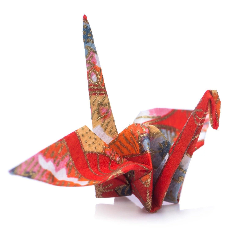 Pack 10 Grues Origami Bleu Ou Rouge