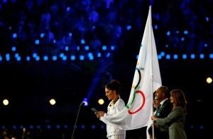 The London 2012 Olympic Oath was taken by Team GB Taekwondo athlete Sarah Stevenson.
