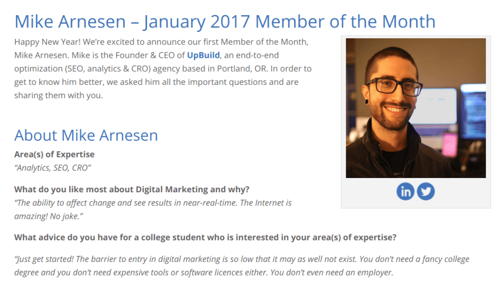 Mike Arnesen — SEMpdx member of the month