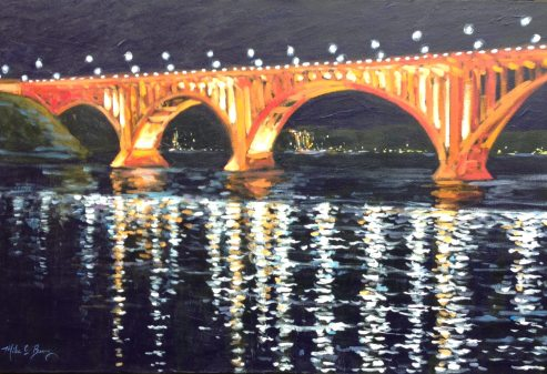 The New Henley Bridge at Night