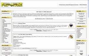 php-nuke ejemplo de web