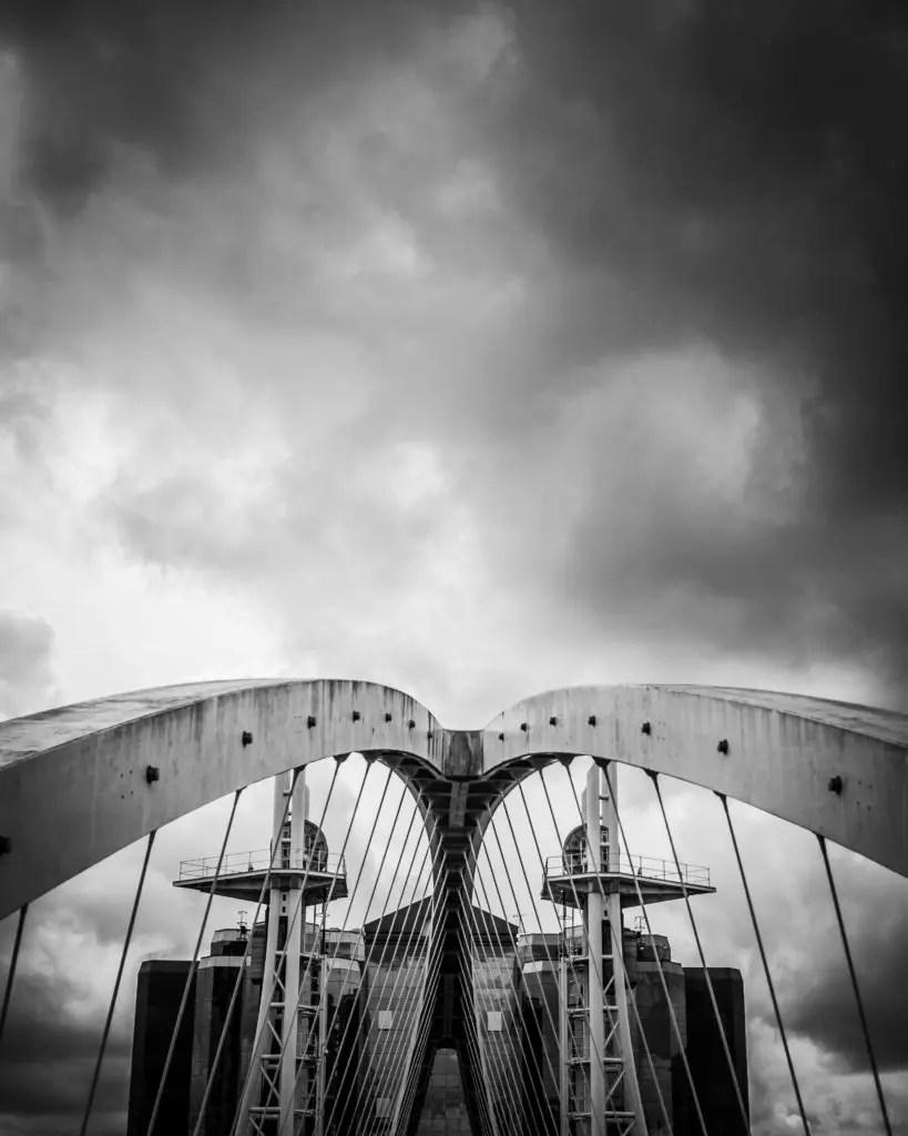Bridge. An Image taken of the iconic swing bridge at Media City, Salford Quays, Manchester