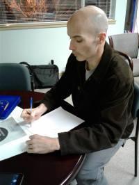 copywriter at work