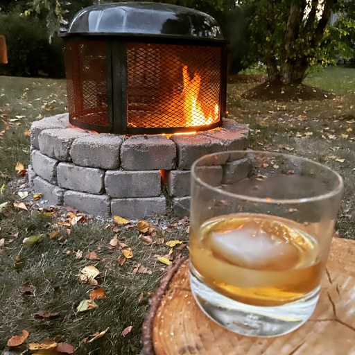 Bulleit Whiskey by Firepit