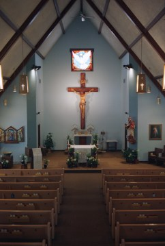 A church in Elmira, MI, prior to Easter Sunday,
