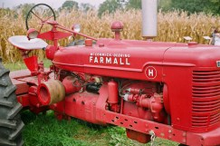 These two tractor images do a good job showing the sharpness and clarity of the Cosina 6-element lens.