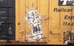 One of my first images was graffiti on a static train car. This image is sharp and shows nice color detail.