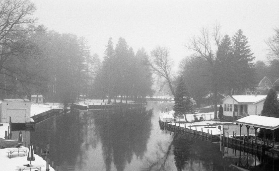 The mist over this river is captured perfectly here, and the grain of the Neopan really gives this image an eerie look.