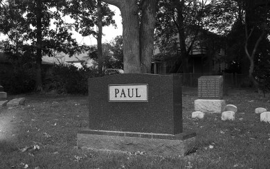 Here lies Paul. Just Paul.
