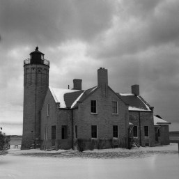 The lighthouse in Mackinac City, MI. The gloomy and heavy cloud cover rendered an excellent image with tons of shadow detail.