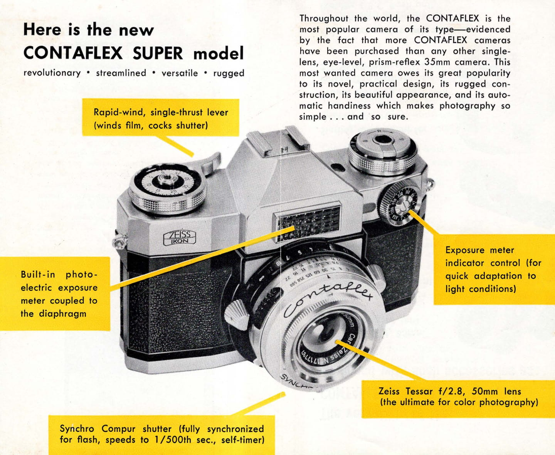 Zeiss-Ikon Contaflex Super (1959) - mike eckman dot com