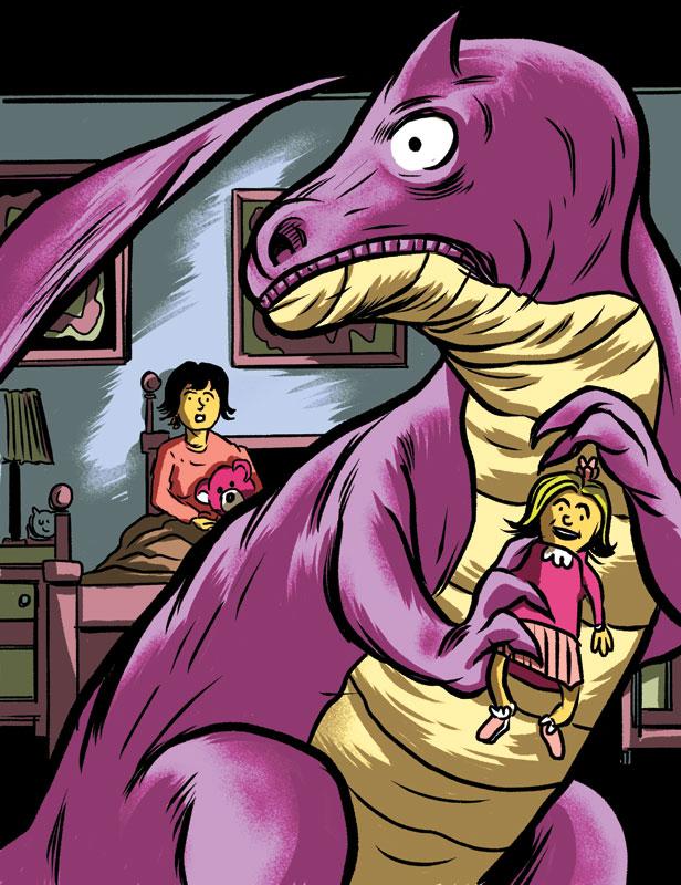 Big Purple Dinosaur for Current Affairs