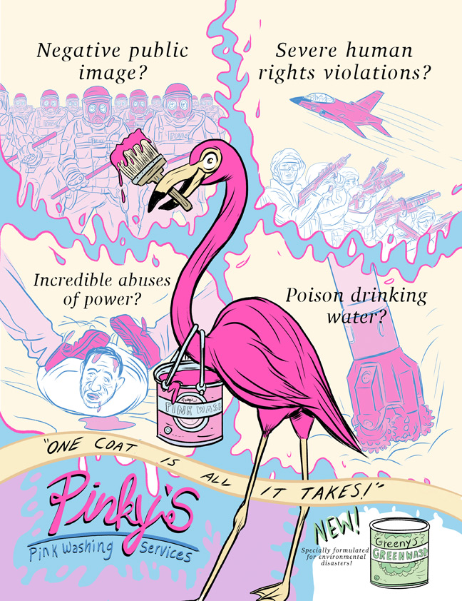 Pinkwashing for Current Affairs