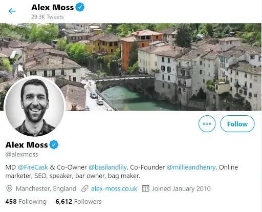 Alex Moss Twitter