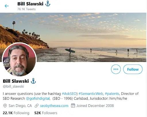 Bill Slawski Twitter
