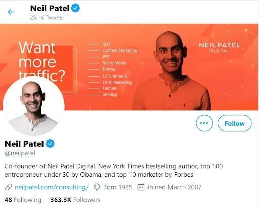Neil Patel leading seo expert