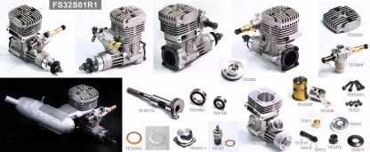SH .32 Size Glow Engine Parts View