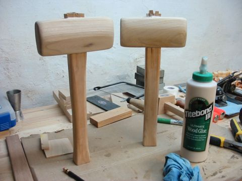 scrap wood projects - jointer mallets