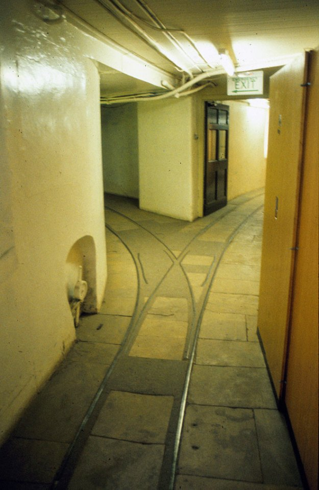 Welbeck Abbey:  basement railway