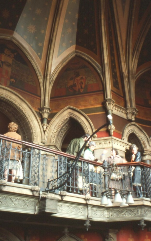 Midland Grand Hotel, St Pancras:  grand staircase (1977)