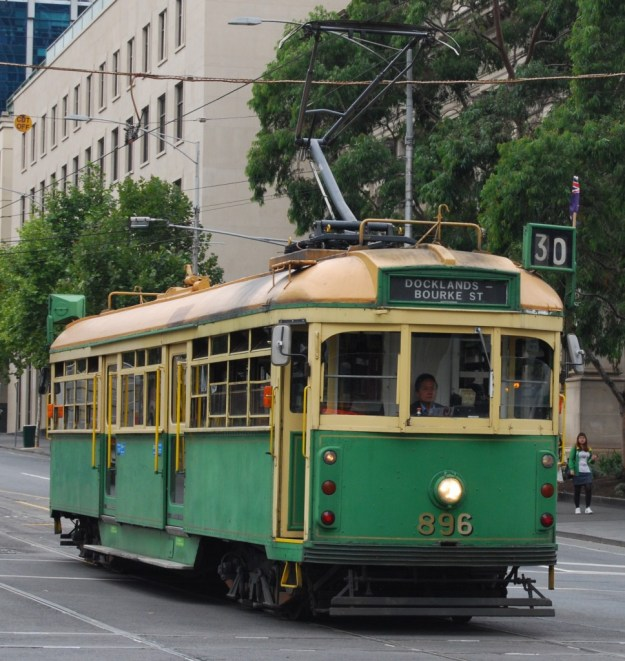 W-class tram 896, La Trobe Street, Melbourne, Australia