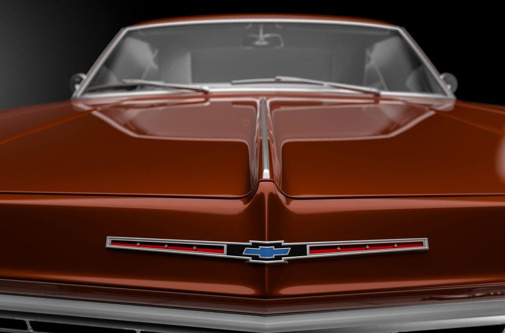 Chevrolet Impala 1965 3D ilustración